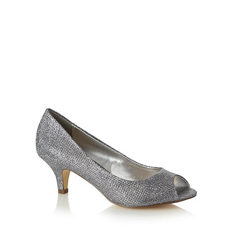 Debut - Silver glitter mid court shoes
