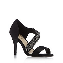 Debut - Black jewel strap high sandals