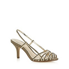 Debut - Gold two tone strap high sandals