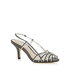 Debut - Silver two tone strap high sandals