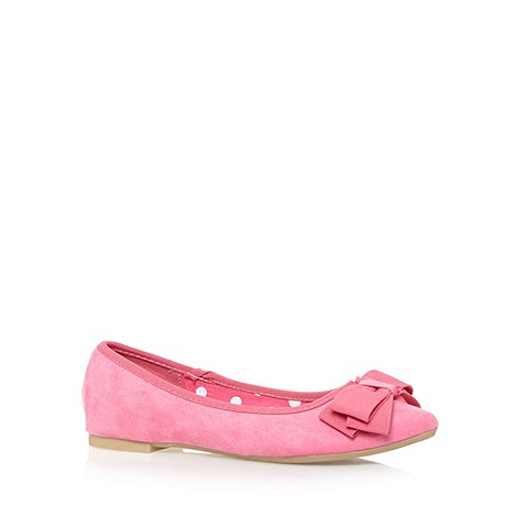 Red Herring - Pink bow front pumps