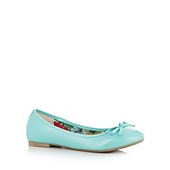 Red Herring - Turquoise bow applique pumps