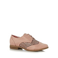 Red Herring - Pink cutout lattice shoes
