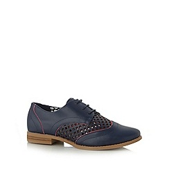 Red Herring - Navy cutout lattice shoes