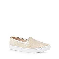 Red Herring - Gold metallic textured slip on shoes