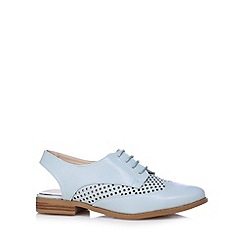 Red Herring - Pale blue punched slingback shoes