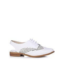 Red Herring - White punched slingback shoes