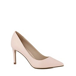 Red Herring - Light pink patent pointed toe high court shoes