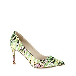 Red Herring - Green floral high court shoes