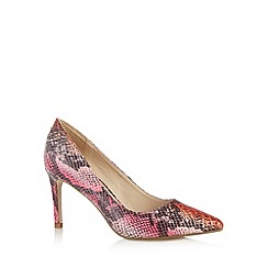 Red Herring - Red snakeskin pointed toe high court shoes