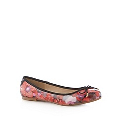 Red Herring - Red floral print pumps