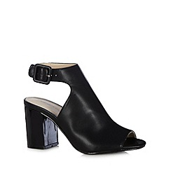 Red Herring - Black cutout high shoe boots