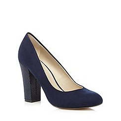 Red Herring - Navy high block court shoes