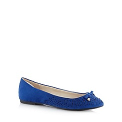 Red Herring - Royal blue embellished toe pumps