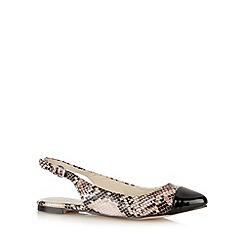 Red Herring - Light pink snake skin pumps