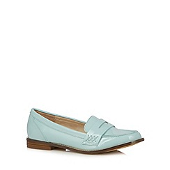Red Herring - Aqua patent loafers