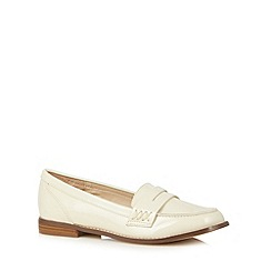 Red Herring - Cream patent loafers