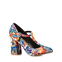 Red Herring - Orange floral high court shoes