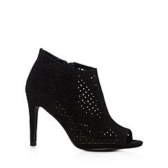 Red Herring - Black laser cut high shoe boots