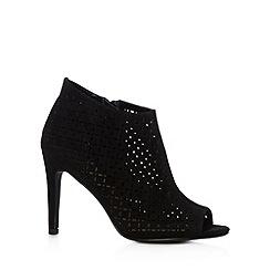 Red Herring - Black laser cut high shoe boots