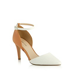 Red Herring - White colour block high court shoes