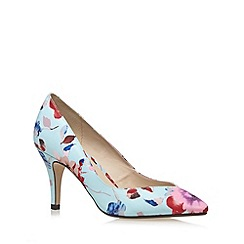 Red Herring - Light blue graphic floral high court shoes