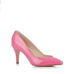 Red Herring - Pink patent pointed high court shoes