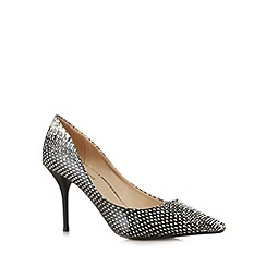 Red Herring - Cream snakeskin print high court shoes