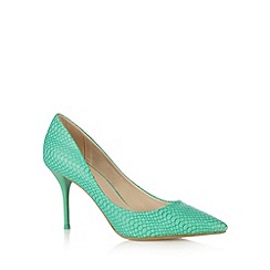 Red Herring - Green faux snakeskin high stiletto court shoes