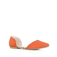 Red Herring - Orange cutout pointed toe pumps