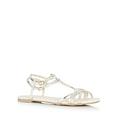 Red Herring - Gold metallic multi strap sandals
