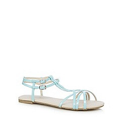 Red Herring - Aqua t-bar multi strap sandals