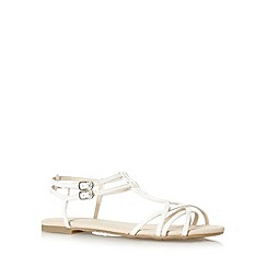 Red Herring - White strappy synthetic flat sandals