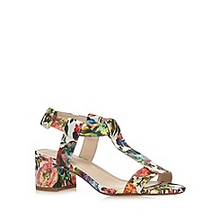Red Herring - Green floral mid sandals