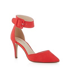 Red Herring - Red suedette pointed toe high court shoes