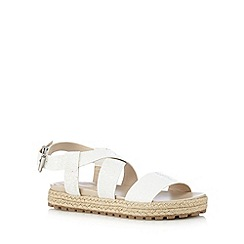 Red Herring - White flat espadrille sandals