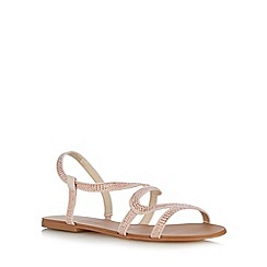 Red Herring - Light pink rhinestone strap sandals