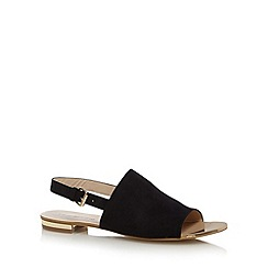 Red Herring - Black suedette slingback sandals