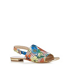 Red Herring - White floral slingback sandals