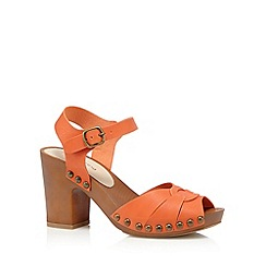 Red Herring - Orange wood synthetic high block heel sandals