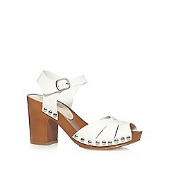 Red Herring - White wood style high sandals