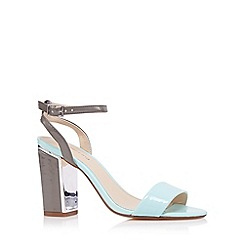 Red Herring - Aqua patent high sandals
