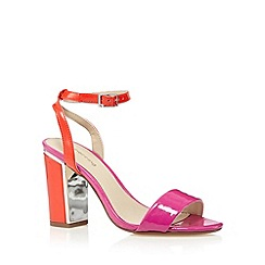 Red Herring - Bright pink patent high sandals