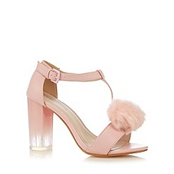 Red Herring - Light pink pom pom high sandals