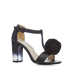 Red Herring - Black pom pom high sandals
