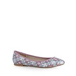 Mantaray - Pink pixelated floral pumps