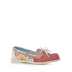 Mantaray - Pink floral boat shoes