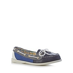Mantaray - Navy stripe boat shoes