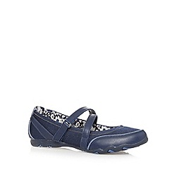 Mantaray - Navy textured strap pumps