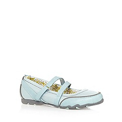 Mantaray - Light blue textured strap pumps